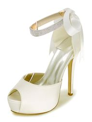 Milanoo Chaussures de mariage Peep 2021 Sandales plateforme femme à talon haut Chaussures de mariée - milanoo.com - Modalova