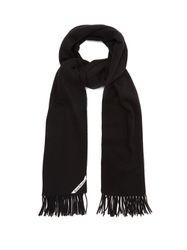 Écharpe en laine à franges Canada - Acne Studios - Modalova