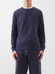 Sweat-shirt en coton à col ras du cou - Sunspel - Modalova