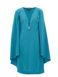 Robe en soie à manches cape Bluebird - Julie De Libran - Modalova