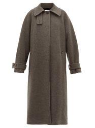 Manteau oversize en laine mélangée à manche raglan - Raey - Modalova