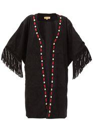 Veste en daim à houppes et coquillages Duni - Muzungu Sisters - Modalova