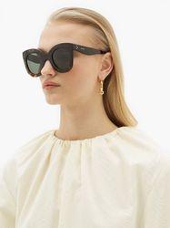Lunettes de soleil rondes oversize en acétate - Celine Eyewear - Modalova