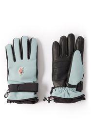 Gants de ski en cuir et sergé à empiècement logo - Moncler Grenoble - Modalova