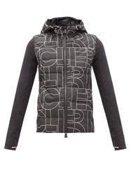 Veste à capuche en jersey et tissu imperméable - Moncler Grenoble - Modalova