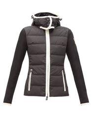 Veste matelassée en jersey à empiècements logo - Moncler Grenoble - Modalova