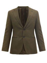 Veste de costume en laine fresco - Caruso - Modalova