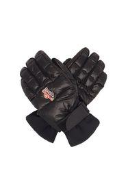 Gants de ski à paumes en cuir et logo brodé - Moncler Grenoble - Modalova