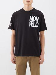 T-shirt en coton à imprimé logo - Moncler Grenoble - Modalova