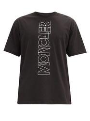 T-shirt en jersey de coton à imprimé logo - Moncler Grenoble - Modalova