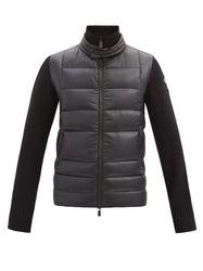 Veste matelassée en duvet et jersey à logo - Moncler Grenoble - Modalova