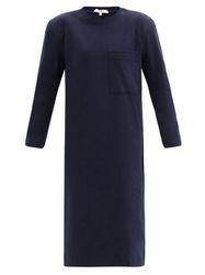 Robe en coton manches longues à épaulettes - Tibi - Modalova
