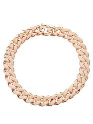 Collier chaîne en argent sterling plaqué or rose - Bottega Veneta - Modalova