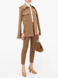 Cape en laine à jacquard GG - Gucci - Modalova