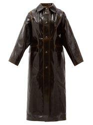 Manteau long en laine enduite de vinyle - Kassl Editions - Modalova