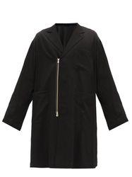 Manteau zippé en laine à double boutonnage - TAKAHIROMIYASHITA TheSoloist. - Modalova
