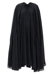 Robe en crêpe de satin à cape - Balenciaga - Modalova