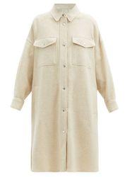 Manteau chemise oversize en laine Fontia - Isabel Marant Étoile - Modalova