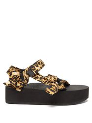 Sandales à plateforme et imprimé léopard Trekk - Arizona Love - Modalova