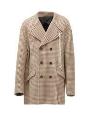 Manteau oversize en sergé à carreaux Ah16 - Raf Simons - Modalova