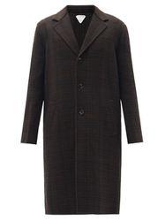 Manteau boutonné en laine mélangée à carreaux - Bottega Veneta - Modalova