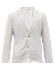 Lino - Blazer en calico de lin à poches plaquées - 120 Lino - Modalova