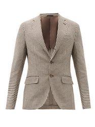 Blazer en laine mélangée à carreaux Aida - Caruso - Modalova