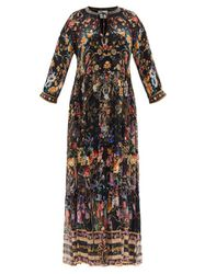 Robe longue en soie à fronces Blushing Manor - Camilla - Modalova