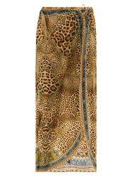 Sarong à imprimé léopard et cristaux - Camilla - Modalova