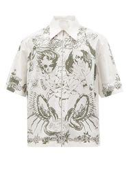 Chemise en popeline de coton à imprimé tatouage - Givenchy - Modalova