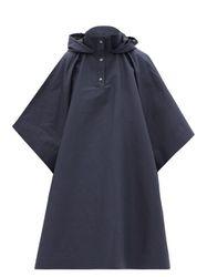 Manteau cape en gabardine de coton mélangé - Kassl Editions - Modalova