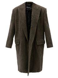 Manteau oversize en laine effet vieilli - Balenciaga - Modalova