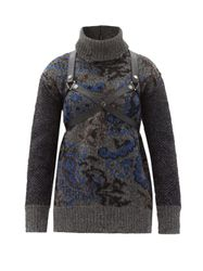 Pull col roulé en laine motif cachemire Harness - Junya Watanabe - Modalova