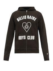 Sweat-shirt zippé en jersey de coton à capuche - Billionaire Boys Club - Modalova