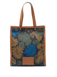 Cabas en cuir et toile à jacquard floral - Paul Smith - Modalova