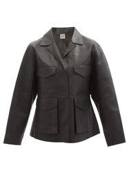 Totême - Veste en cuir Army - Totême - Modalova