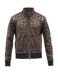 Veste zippée à imprimé léopard - Tom Ford - Modalova