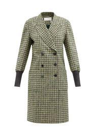 Manteau en laine mélangée à carreaux - Chloé - Modalova