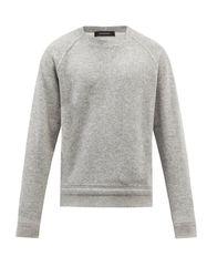 Sweat-shirt col ras du cou en laine mélangée - Ermenegildo Zegna - Modalova