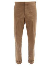 Pantalon droit en sergé de coton mélangé Macbeth - Caruso - Modalova