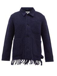Surchemise en laine mélangée à houppes Labour - YMC - Modalova