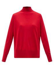 Pull en laine à col montant - Allude - Modalova