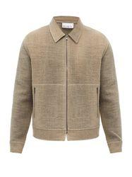 Veste zippée en laine bouillie - Raey - Modalova