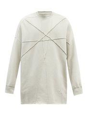 Sweat-shirt en jersey de coton à logo brodé - Rick Owens DRKSHDW - Modalova