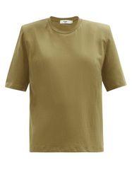 T-shirt en coton biologique à épaulettes Carrington - The Frankie Shop - Modalova