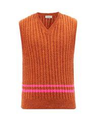 Gilet en laine à maille torsadée Ralph - Molly Goddard - Modalova