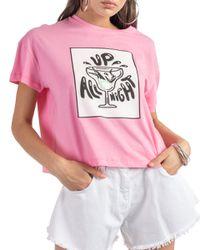 Mirta - t-shirt in jersey con stampa - Shiki - Modalova