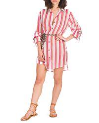 Chios - abito camicia doppia stampa - Shiki - Modalova