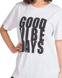 Sonia - t-shirt stampa glitter black - Shiki - Modalova