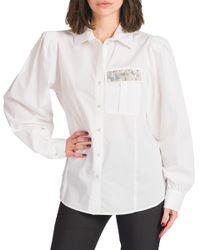 Cadia - camicia con taschino in strass - Shiki - Modalova
